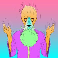 #illustrator #adobe #acid #colors #digital #drawing #cartoon #artwork #acidart #illustratoracid #monk #drawing #creatrive #digitalart