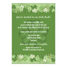 >>>Hello          	Shamrock St. Patricks Day Party Personalized Invite           	Shamrock St. Patricks Day Party Personalized Invite We provide you all shopping site and all informations in our go to store link. You will see low prices onHow to          	Shamrock St. Patricks Day Party Person...Cleck Hot Deals >>> http://www.zazzle.com/shamrock_st_patricks_day_party_invitation-161132151512619490?rf=238627982471231924&zbar=1&tc=terrest