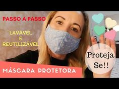 Protective fabric mask – washable – step by step – Emergency coronavirus Sewing Hacks, Sewing Tutorials, Mascara Tutorial, Fashion Mask, Mouth Mask, Youtube, Free Sewing, Fabric Crafts, Vlog