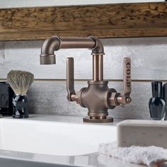 The Elan Vital 38 Single Hole Lavatory Faucet is an instant upgrade for any contemporary bathroom. The industrial theme is unique and will add some flare to your bath space.