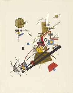 Vasily Kandinsky. Joyous Ascent (Fröhlicher Aufstieg) from Masters' Portfolio of the Staatliches Bauhaus (Meistermappe des Staatlichen Bauhauses). 1923. Lithograph