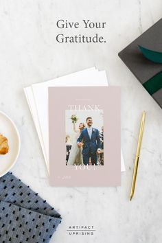 Give Your Gratitude. @artifactuprsng's Thank You Cards combine 100% Recycled Paper with brand new designs.