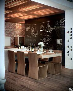 modern wooden dining room design