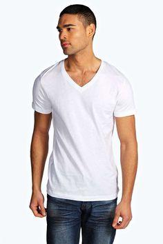 #FashionVault #boohoo #Men #Tops - Check this : boohoo Slim Fit V Neck T Shirt - white for $ USD