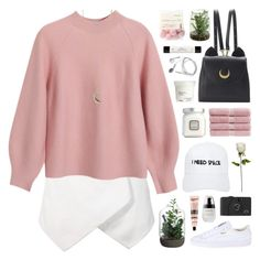 """""""breathe in"""" by novalikarida ❤ liked on Polyvore featuring Chicnova Fashion, Nasaseasons, WithChic, Puma, Allstate Floral, Shabby Chic, Christy, Aesop, Laura Mercier and philosophy"""