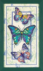 Cross-stitch Pretty Butterflies, part 1
