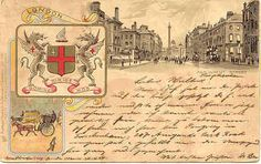 """"""" Great Seal of City of London """" Karodens Vintage Post Cards."""