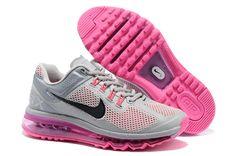 Nike Air Max+ 2013 Women's Running Shoes - Silvery Grey / Black / Peach