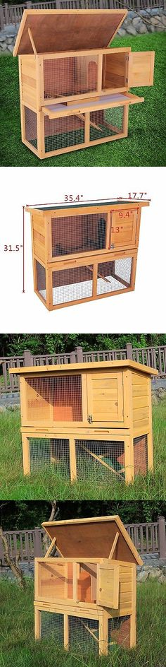 Cages and Enclosure 63108: 36 Waterproof Wood Wooden Rabbit Hutch Chicken Coop Hen House Poultry Pet Cage BUY IT NOW ONLY: $61.9