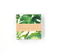 Plant Leaves Coasters Philodendron Houseplants by Tilissimo