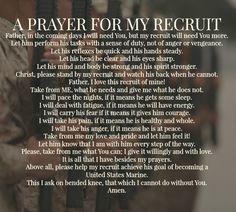A Prayer For My Recruit - USMC bootcamp
