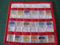 Vicki's Fabric Creations: Sewing Machine Needle Organizer- Tutorial