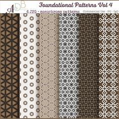 Foundational Patterns Vol. 04, paper,cu, commercial, scrap, scrapbooking, graphics,