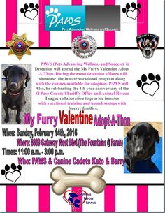 RELEASE: PAWS AT MY FURRY VALENTINE ADOPT-A-THON