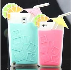 Victoria's Secret Lemon Drink Cup Silicone Case for iPhone 4/4S/5/5S, also for Galaxy Note 3