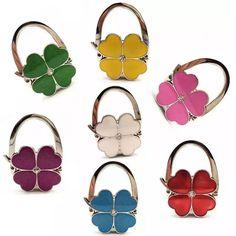 Purse Handbag Hanger Holder Lucky Four Leaf Clover