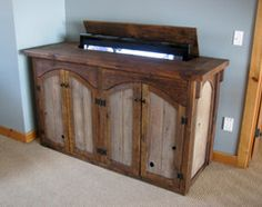 custom rustic furniture by don mcaulay rustic cabinets for sale rustic tv lift cabinet 4 door