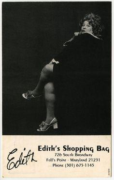 Edith's Shopping Bag postcard — Edith Massey