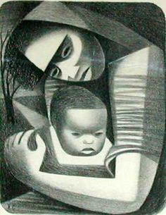 Elizabeth CATLETT - Mother And Child