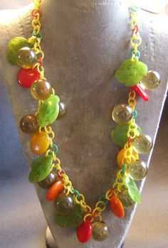 Bakelite Festoon Dangle Necklace
