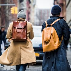SIX WAYS TO WEAR A BACKPACK - The practical bag you'll want to rub shoulders with – and how to choose the right style for you. Photograph by Mr Scott Furkay/BFA/REX Shutterstock.