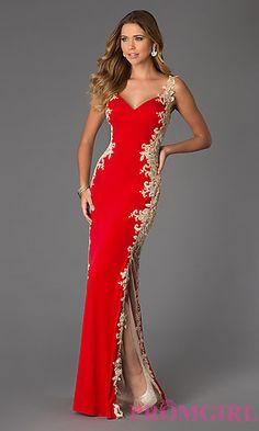 Floor Length Lace Embellished JVN by Jovani Dress at PromGirl.com