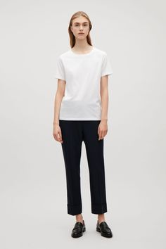 COS image 32 of Relaxed t-shirt in White