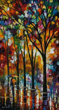 The Spectrum Of The Rain Fine Art Print - Leonid Afremov:
