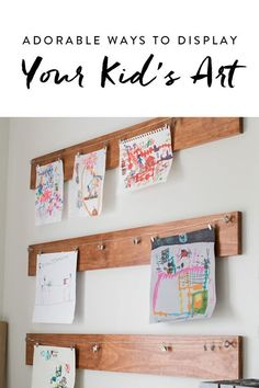 Aside from just slapping it on the fridge, here are 9 super-cute solutions for showcasing your kid's creation.