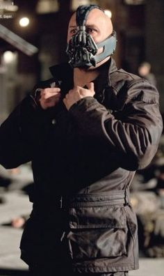 $189.00 - The Dark Knight Rises Bane Leather Jacket Black