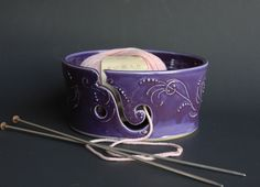 Yarn Bowl in Purple - Vogue Knitting LIVE NYC by KristinaChadwick on Etsy https://www.etsy.com/ca/listing/90682683/yarn-bowl-in-purple-vogue-knitting-live