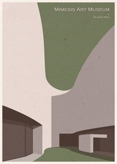 ARCHITECTURE - Asia - Mimesis Art Museum - Poster Design by André Chiote