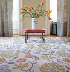 Spring Garden rug in silk pile