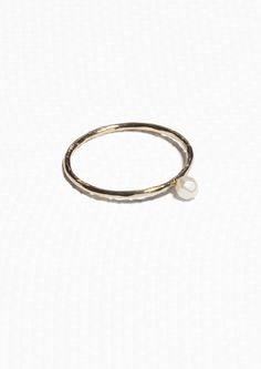 & Other Stories | Thin Organic Pearl Ring