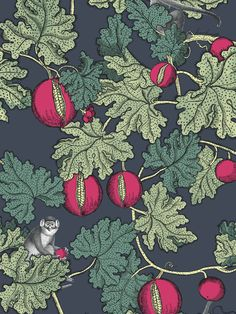 Search Cole & Son Wallpaper SKU Collection Fornasetti pattern name Frutto Proibito color name Ink & Magenta. Theme Print enjoy this unusual wallpaper. Fast Shipping Family owned since 1969 Fornasetti Wallpaper, Purple Wallpaper, Of Wallpaper, Unusual Wallpaper, Designer Wallpaper, Charcoal Wallpaper, Amazing Wallpaper, Wallpaper Borders, Blue Nails