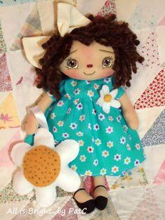 Muñeca Raggedy primitivo Penelope por Allisbright en Etsy