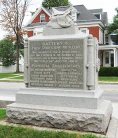 There is a monument on the corner of Carlisle and Lincoln St, that is mostly viewed in passing.  The monument is to Battery K of the First Ohio Artillery, known as Heckman's Battery.  Brought out to the northwest part of town, as a part of a last ditch effort to hold or buy time for the retreating 11th Corps.  Most people visit Coster's Avenue, if they visit this part of town at all.  Heckman's really is worth a stop, they were the last  to leave the field