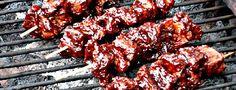 Vegane Barbecue Spieße Aus Seitan