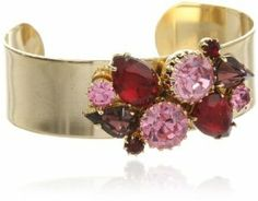Sandy Hyun Rhinestone Pink and Red Cuff Bracelet Sandy Hyun. $70.00