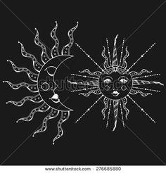 stock-vector-boho-sun-and-vintage-moon-tattoo-zentangle-stylized-bohemian-doodle-vector-illustration-hand-276685880.jpg 450×470 pixels