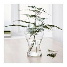 vasen vase klart glas. Black Bedroom Furniture Sets. Home Design Ideas