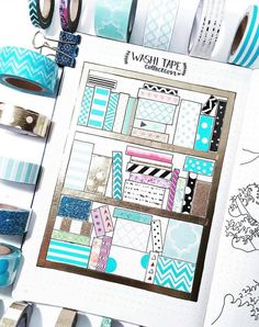 Washi tape collection ideas for bullet journal spreads bullet journal Bullet Journal Vidéo, Bullet Journal Washi Tape, Bullet Journal Ideas Pages, Bullet Journal Spread, Bullet Journal Layout, Bullet Journal Inspiration, Art Journal Pages, Bullet Journal Ideas Templates, Making Tape
