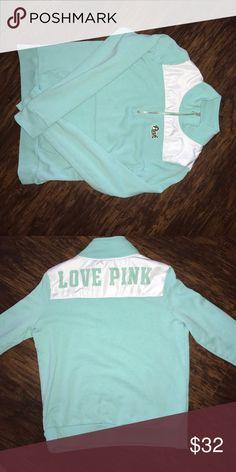 Victoria's Secret pink half zip Victoria's Secret pink half zip PINK Victoria's Secret Tops Sweatshirts & Hoodies