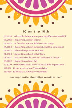 Join me in sharing 10 superstitions, wives' tales and family expressions on 10.10.2020.