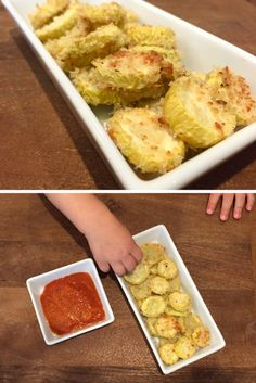 Parmesan yellow squash rounds make the perfect kid-friendly snack or side dish. Serve with yogurt or marinara sauce for dipping. You can also use zucchini squash in place of yellow squash. @MomNutrition