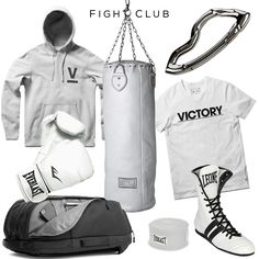 Fight club style set -clockwise: punching bag by seletti box Boxing Boots, Boxing Gloves, Boxing Gym, Fight Wear, Sparring Gloves, Reigning Champ, Punching Bag, Boxing Training, Fight Club