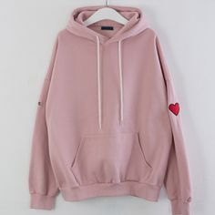99bunny Heart Embroidered Hoodie