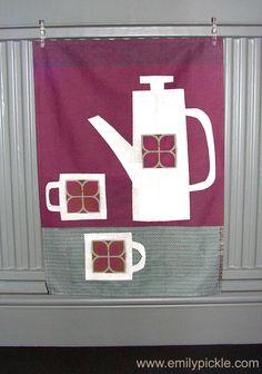 Retro Tea Set Tea Towel