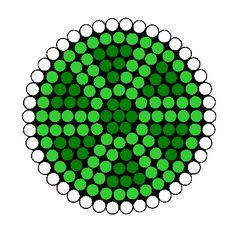 Turtle Shell Perler Bead Pattern | Bead Sprites | Animals Fuse Bead Patterns