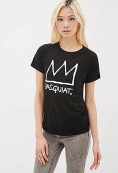 Basquiat Crown Tee | FOREVER21 - 2000079614